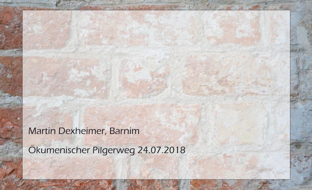 Martin Dexheimer, Ökumenischer Pilgerweg