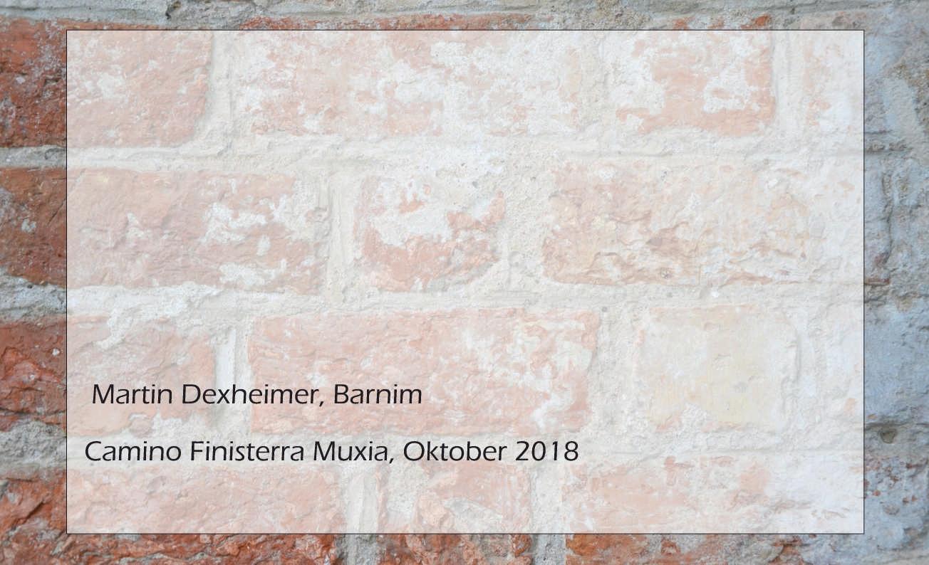 Martin Dexheimer, Camino Finisterra Muxia