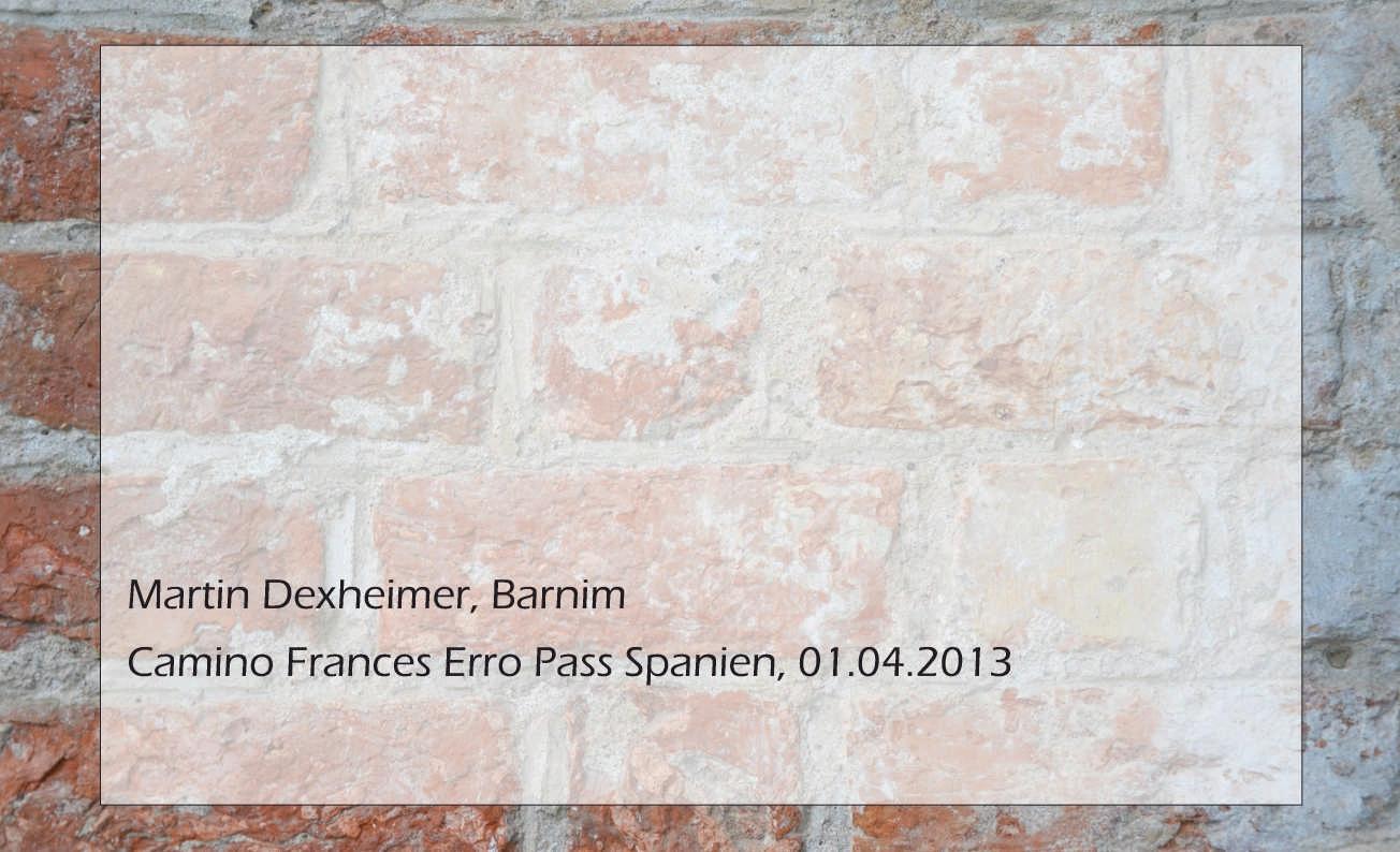 Martin Dexheimer, Camino Frances