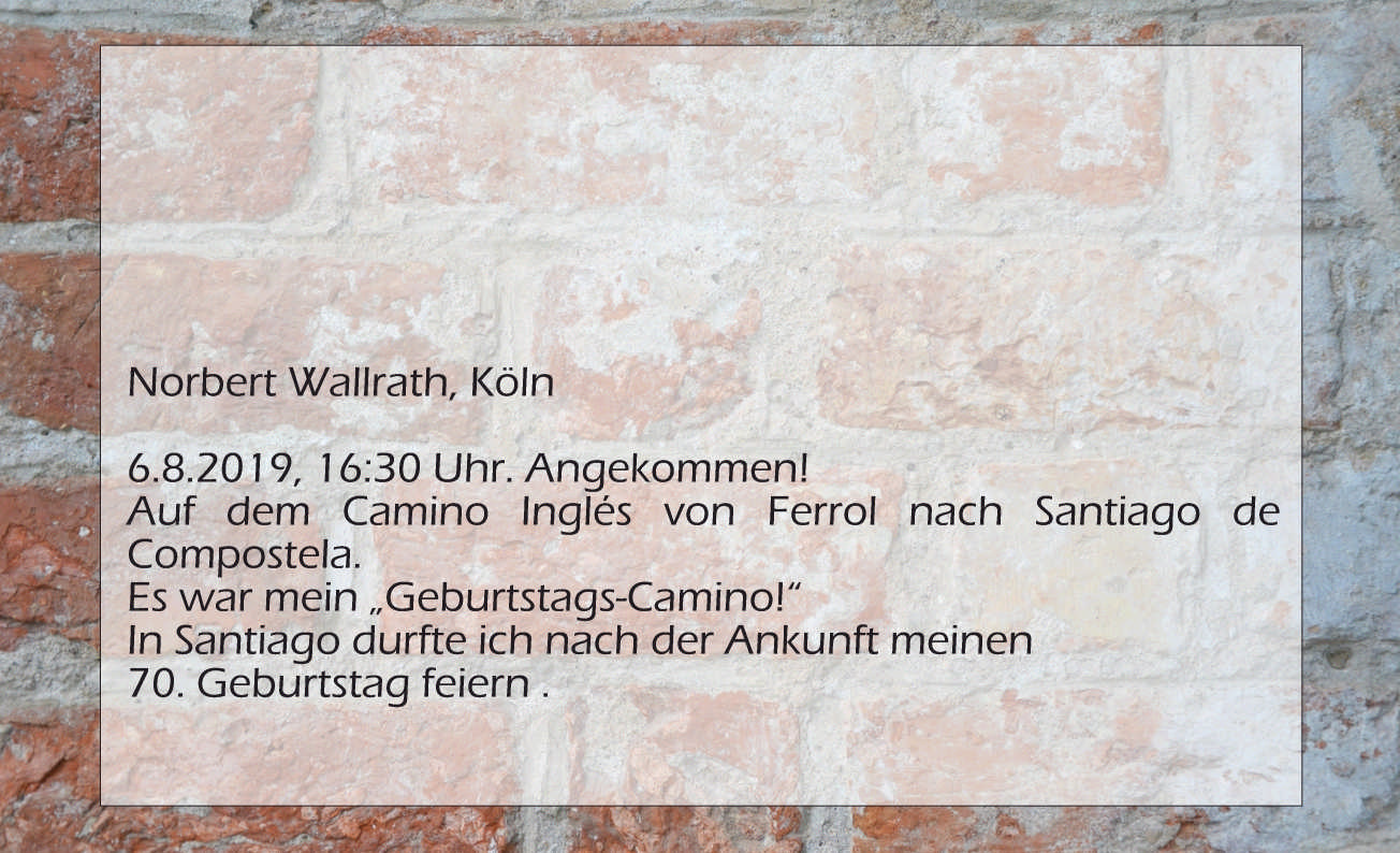 Norbert Wallrath, Angekommen