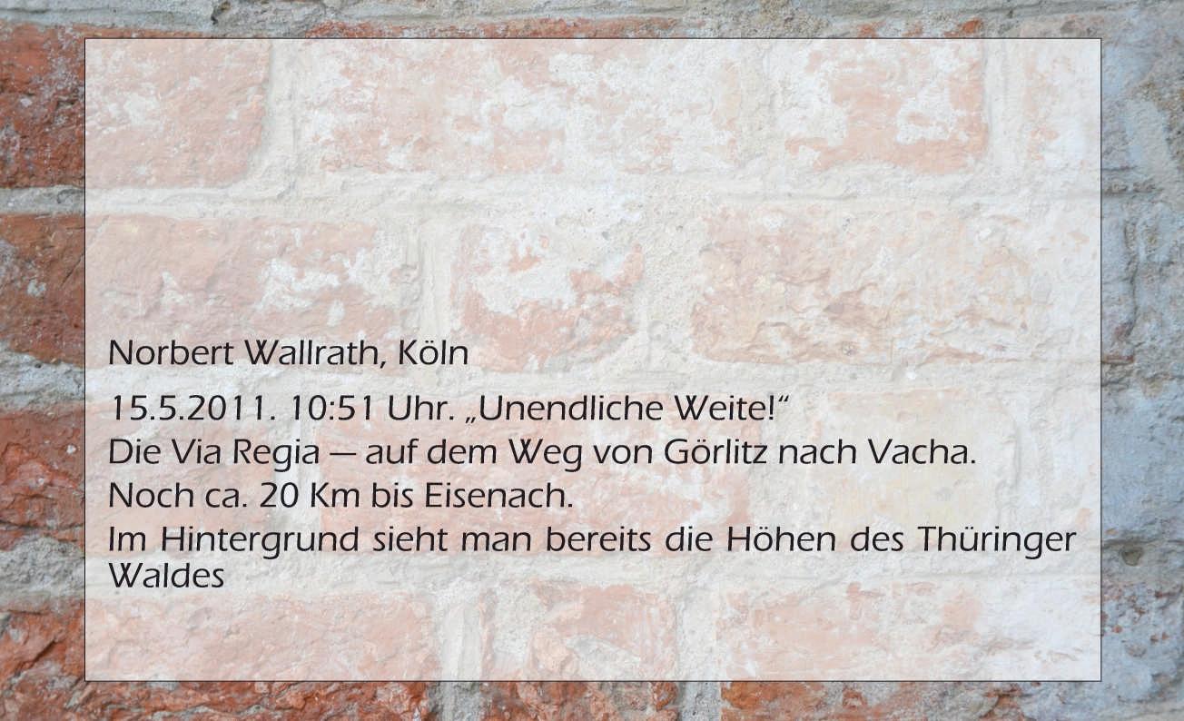 Norbert Wallrath, Unendliche Weite